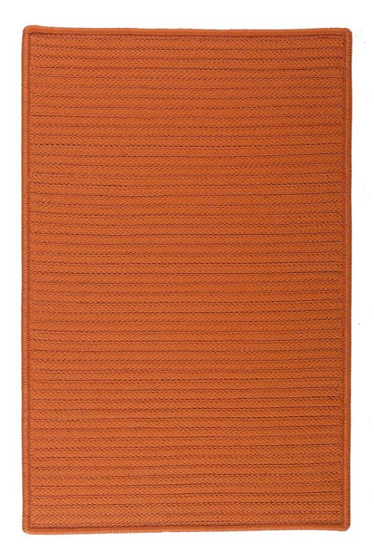 Simply Home Solid Braided Orange Area Rugs