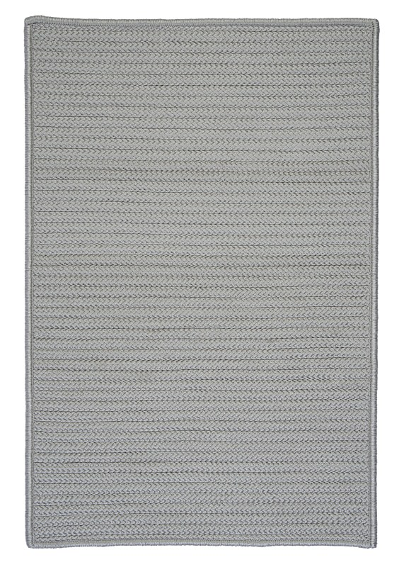 Simply Home Solid Braided Gray Area Rugs