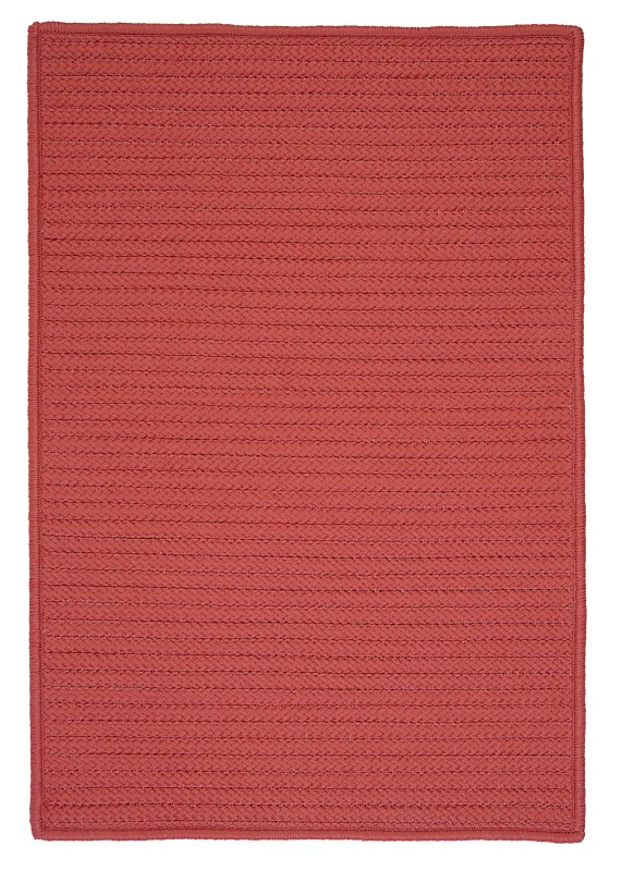 Simply Home Solid Braided Red Area Rugs