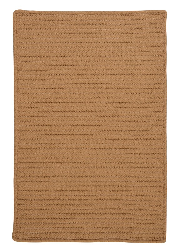 Simply Home Solid Braided Gold Area Rugs