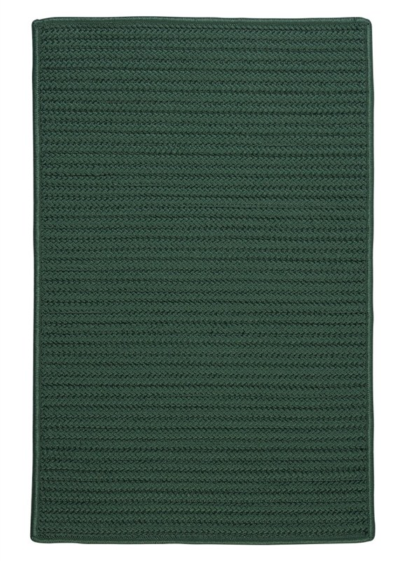 Simply Home Solid Braided Green Area Rugs