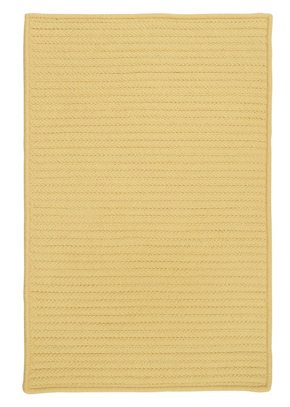 Simply Home Solid Braided Yellow Area Rugs