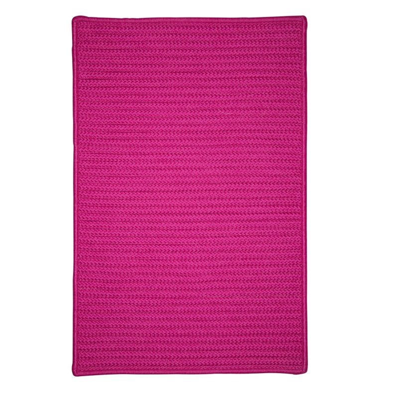 Simply Home Solid Braided Pink Area Rugs