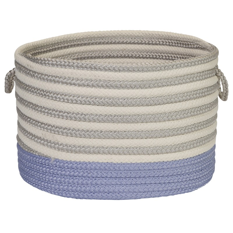 Chloe Stripe Basket Braided Purple Area Rugs