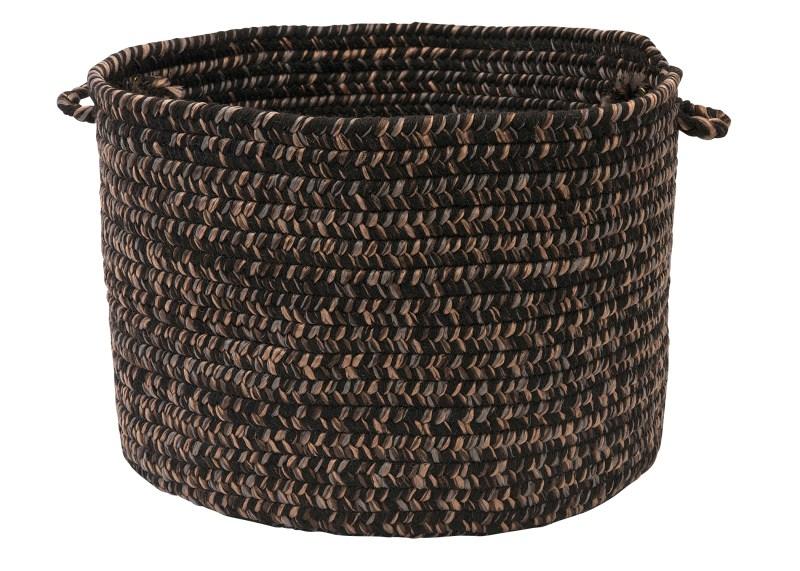 Hayward Basket Braided Black Area Rugs
