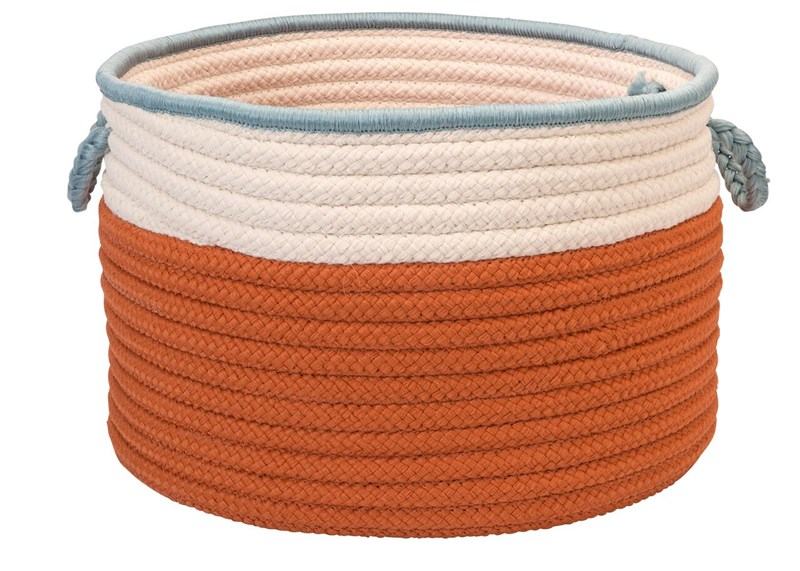 In The Band Storage Bins Braided Orange Area Rugs