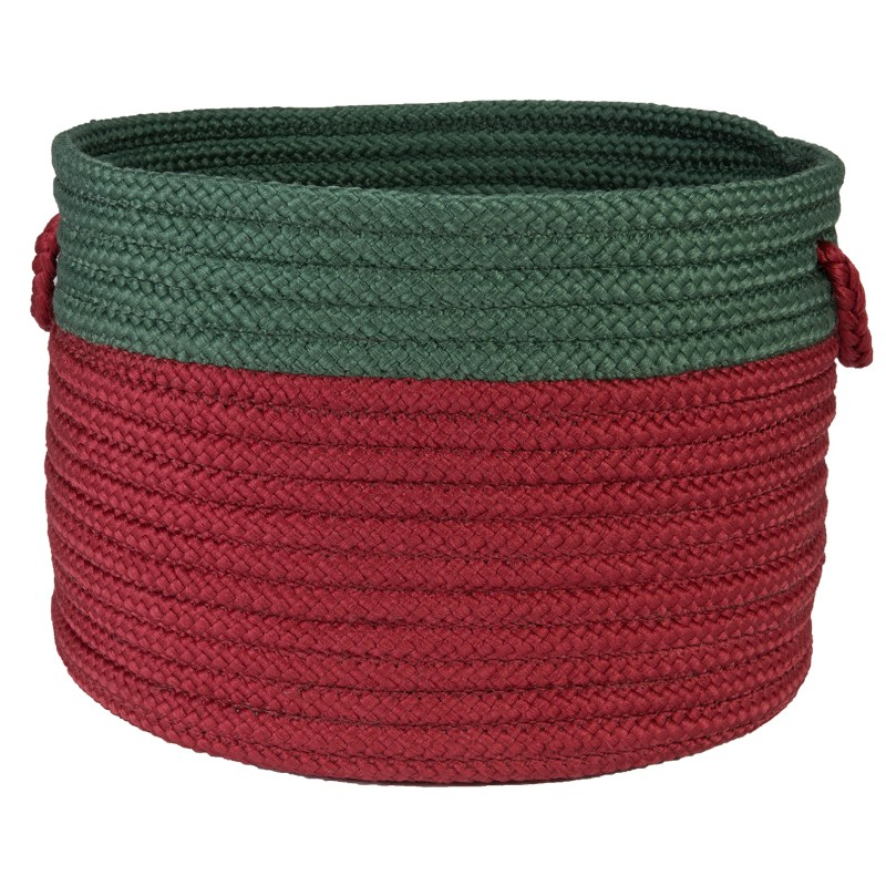 Jubilee Basket Braided Red Area Rugs