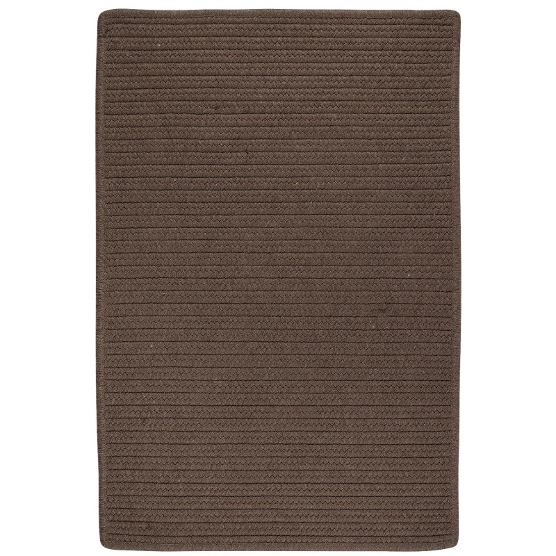 Sunbrella Solid Braided Brown Area Rugs
