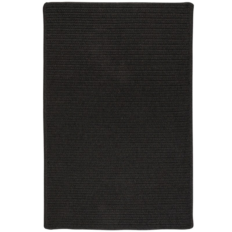 Sunbrella Solid Braided Black Area Rugs