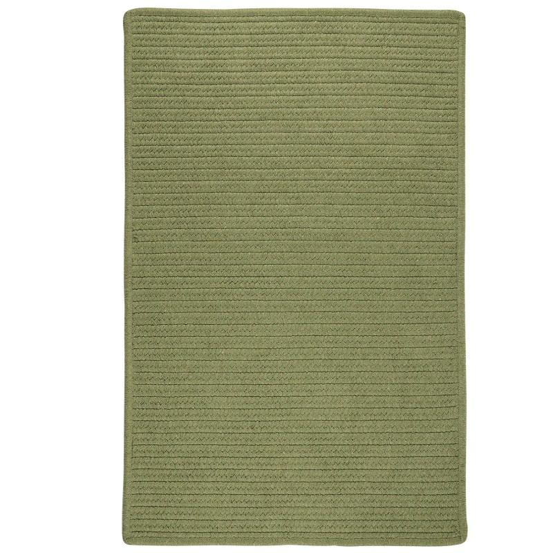 Sunbrella Solid Braided Green Area Rugs
