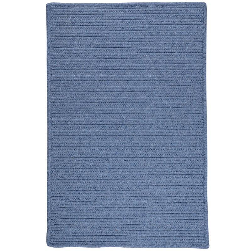 Sunbrella Solid Braided Blue Area Rugs