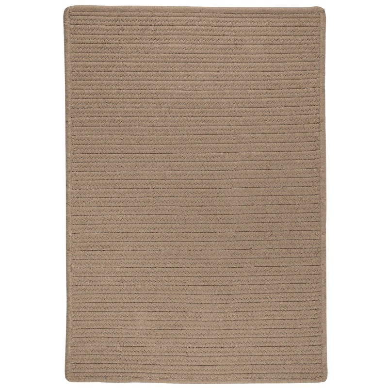 Sunbrella Solid Braided Taupe Area Rugs
