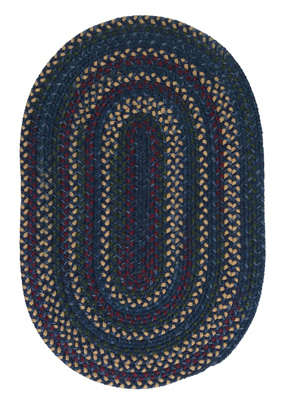 Midnight Braided Blue Area Rugs