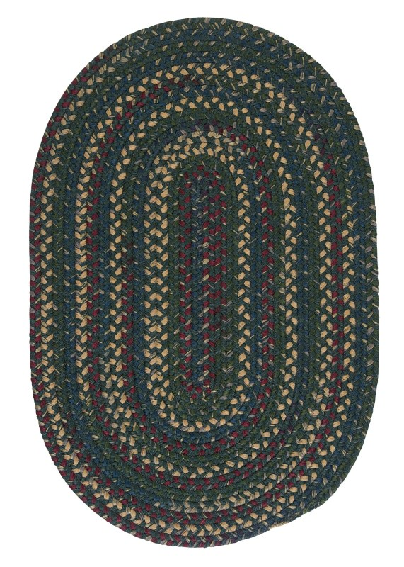 Midnight Braided Green Area Rugs