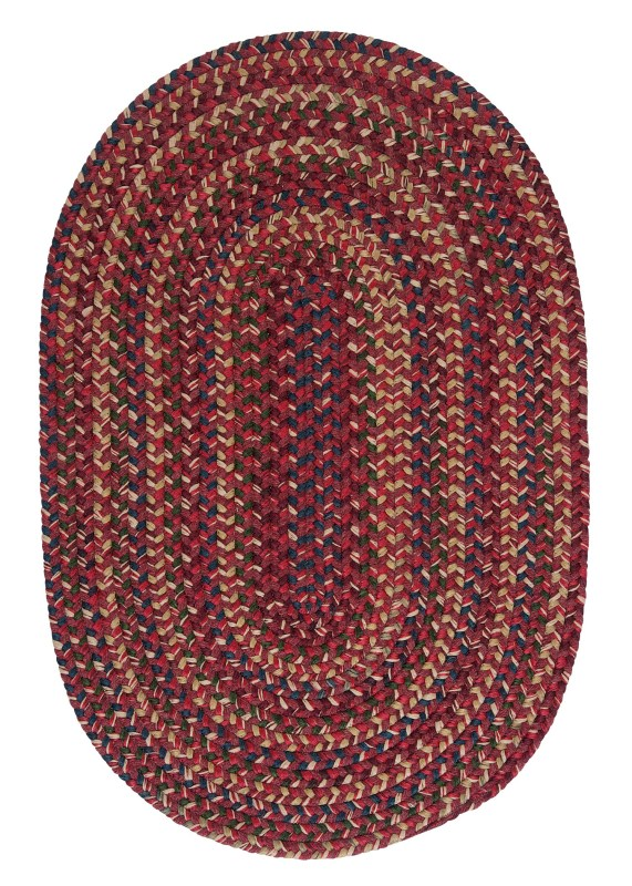 Midnight Braided Red Area Rugs