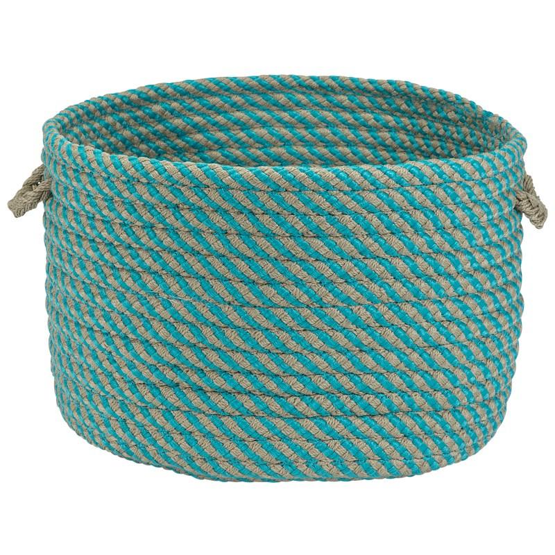 Cabana Basket Braided Blue Area Rugs