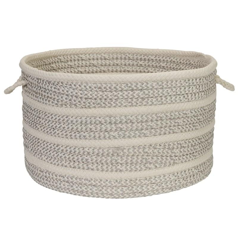 Poppy Basket Braided White Area Rugs