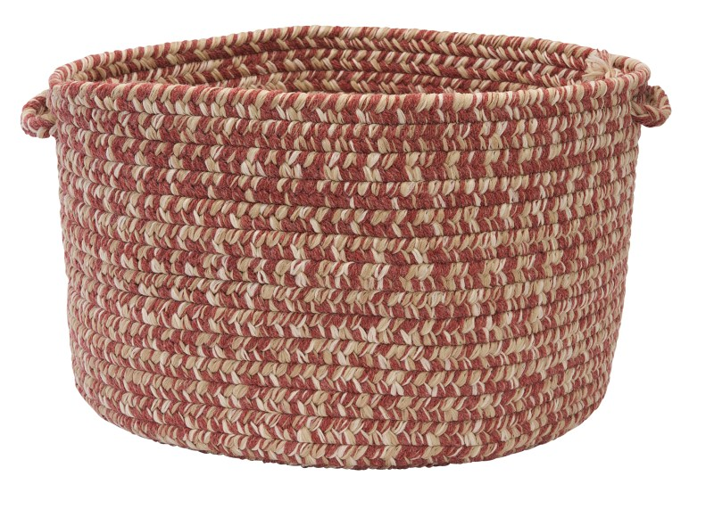 Tremont Basket Braided Red Area Rugs