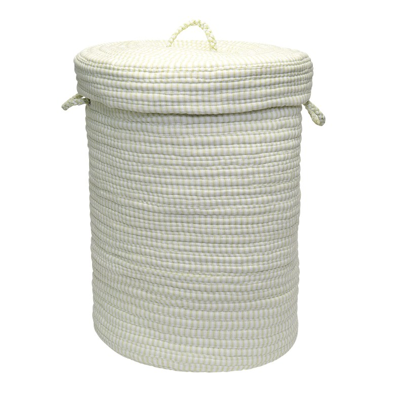 Ticking Solid Hamper W/ Lid Braided Green Area Rugs