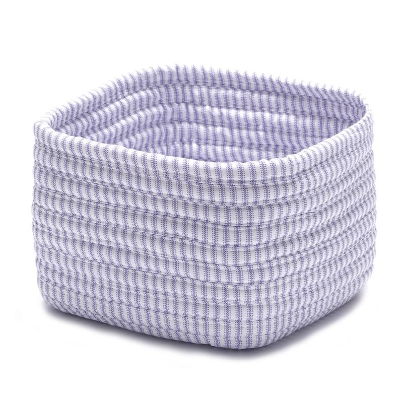 Ticking Shelf Storage Braided Purple Area Rugs