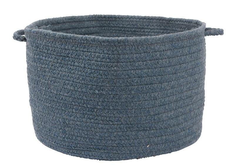 Bristol Basket Braided Blue Area Rugs