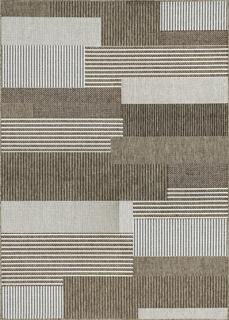 Monaco Power-Loomed Grey-Sand Area Rugs