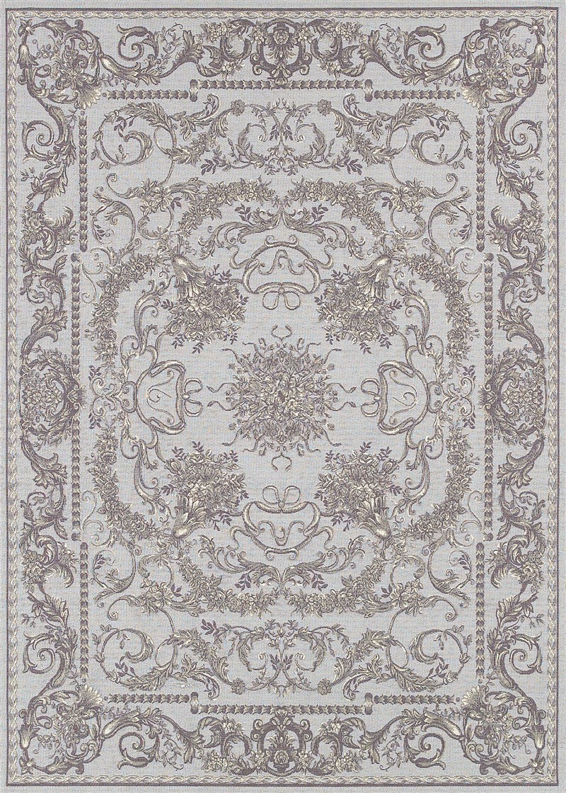 Dolce Power-loomed Sky Blue-grey Area Rugs