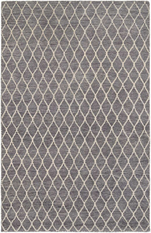 Retrograde Hand-knotted Grey-dusty Blue Area Rugs