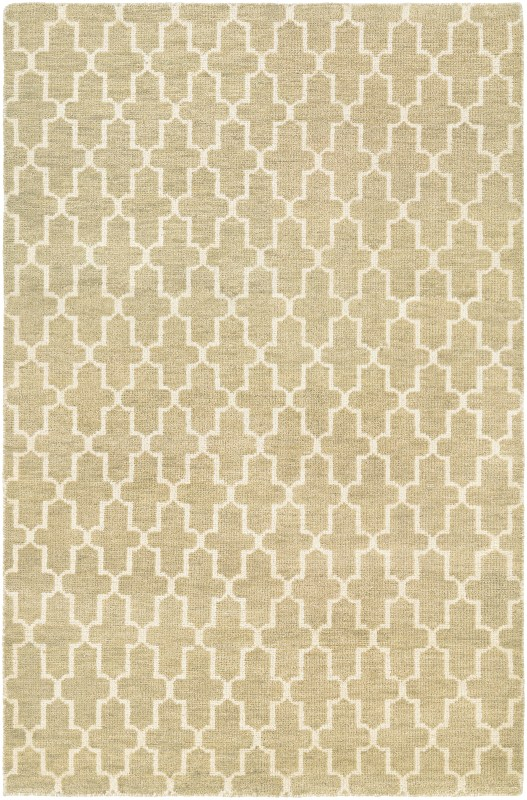 Retrograde Hand-knotted Camel-tan Area Rugs