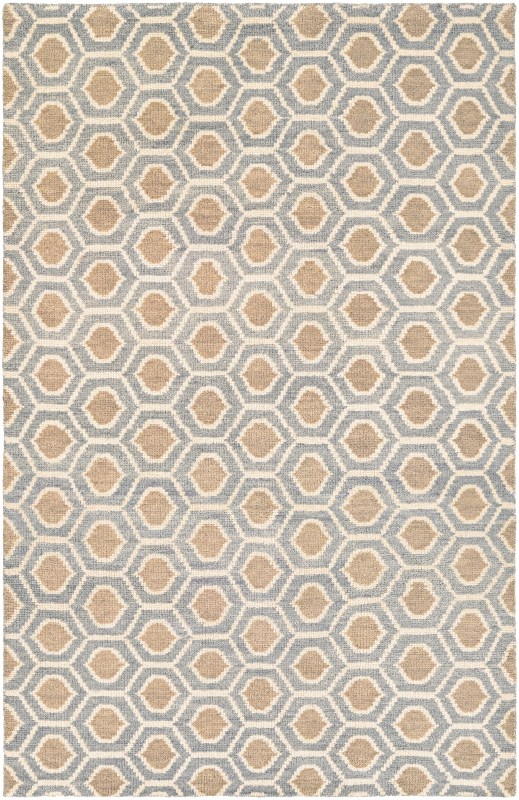 Retrograde Hand-knotted Dusty Blue-camel Area Rugs