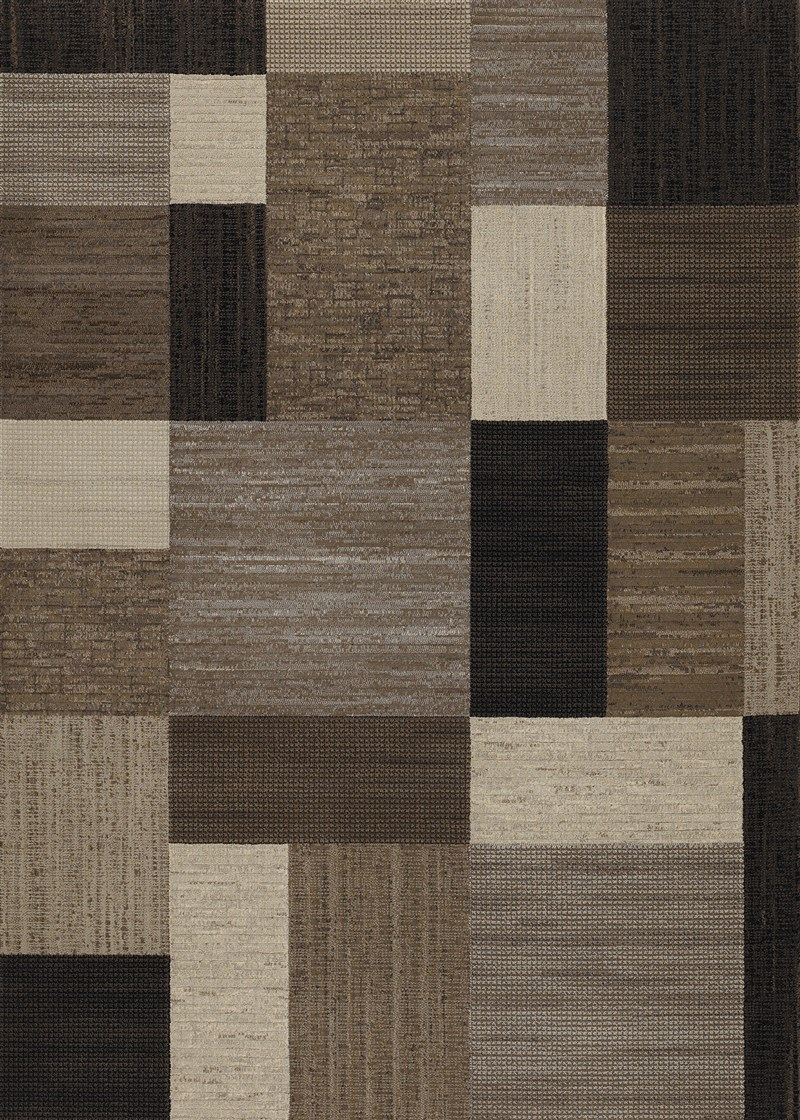 Everest Power-loomed Brown-multi Area Rugs