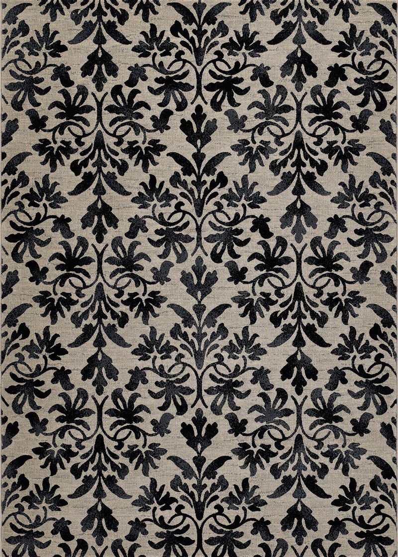 Everest Power-loomed Grey-black Area Rugs