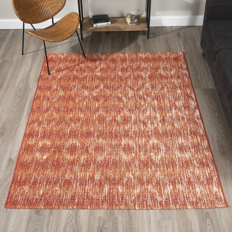 Addison Freeport Indoor/outdoor Modern Ikat Spice Area Rug