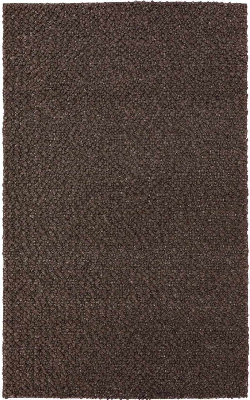 Addison Boulder Chunky Mocha Hand Loomed Wool Accent Rug