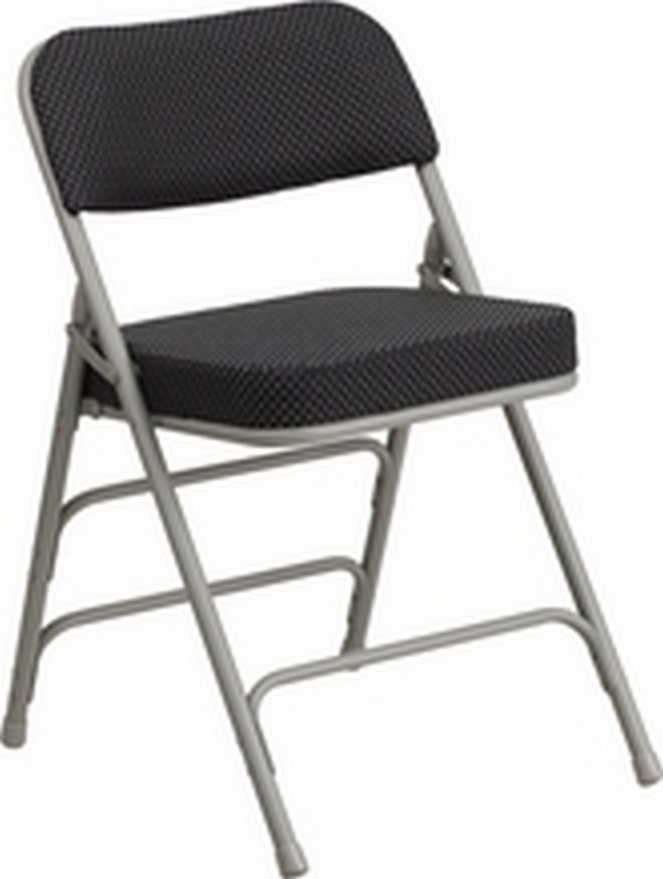 Black Fabric Folding Chair