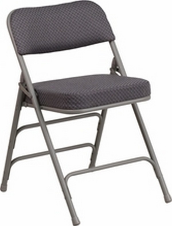 Gray Fabric Folding Chair