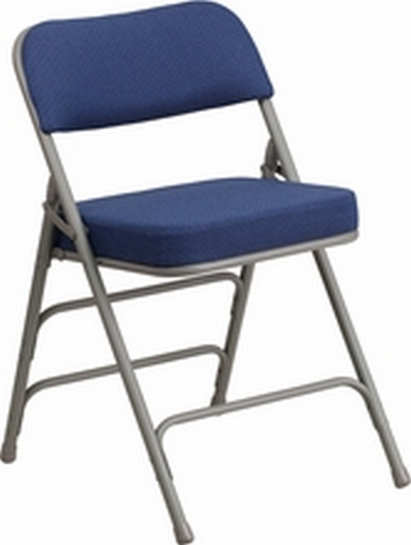 Navy Fabric Folding Chair