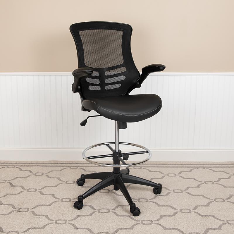 Black Mesh Draft Chair