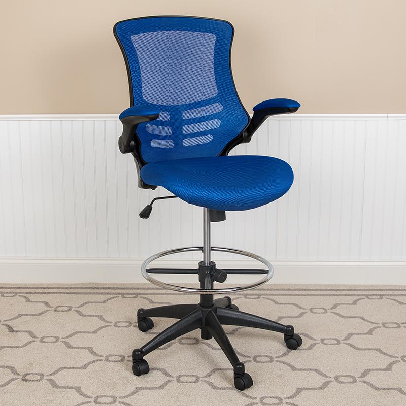 Blue Mesh Draft Chair
