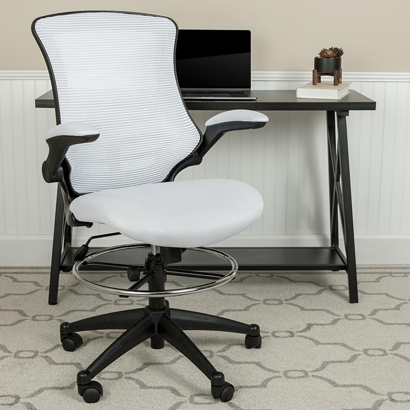 White Mesh Draft Chair