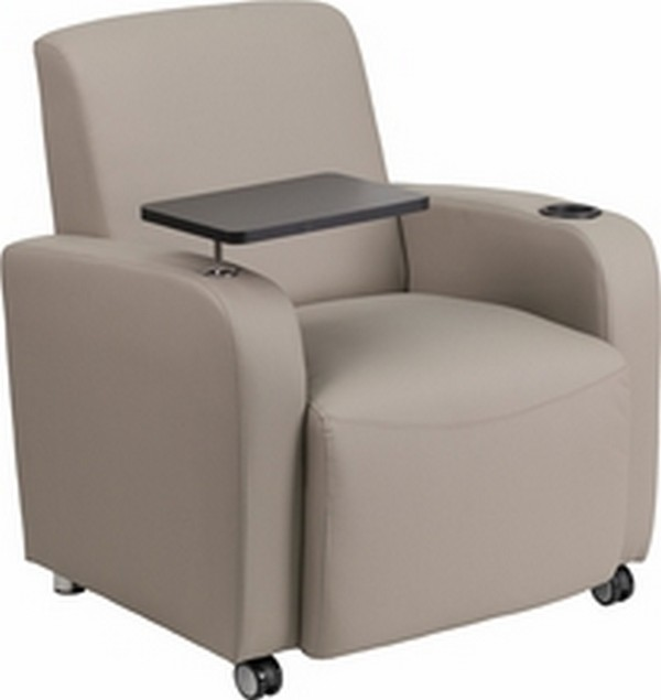 Gray Leather Guest Chair