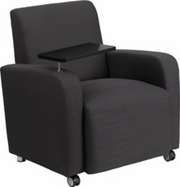Gray Fabric Guest Chair