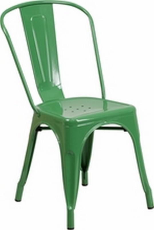Green Metal Chair