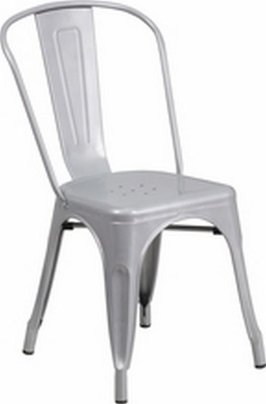 Silver Metal Chair