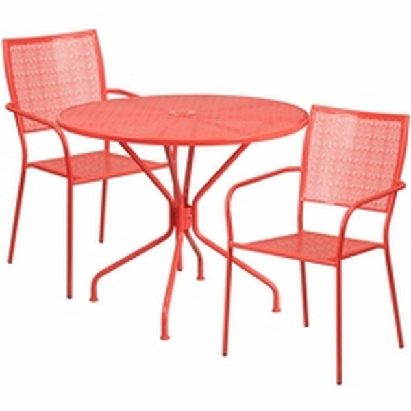 35.25 Coral Table W/ 2 Seats