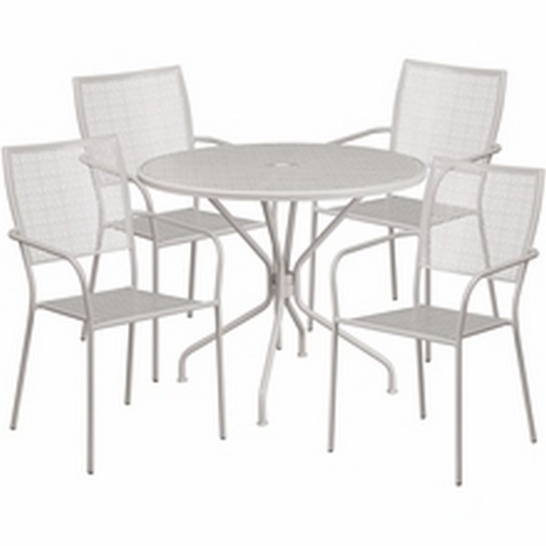 35.25 Gray Table W/ 4 Seats