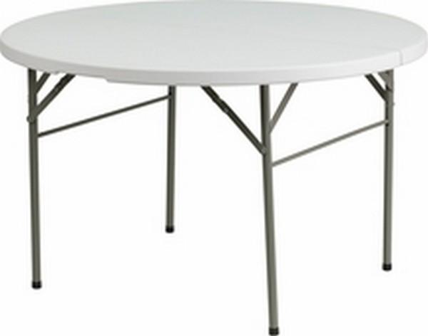 48'' Round Bi-fold White Table