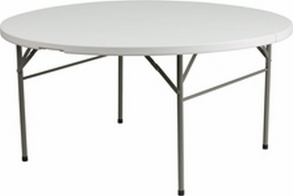 60'' Round Bi-fold White Table