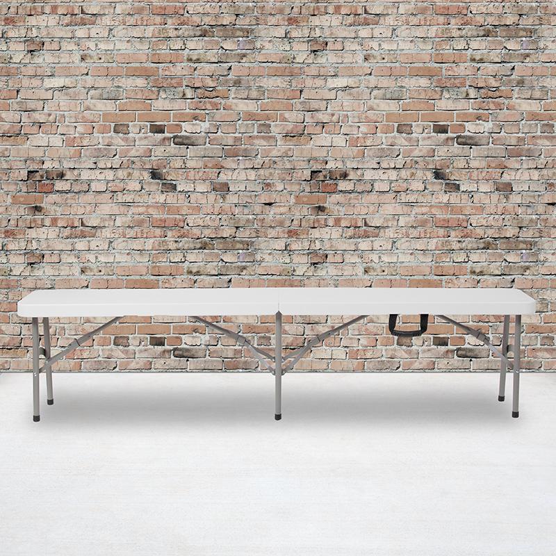 11x72 White Folding Bench