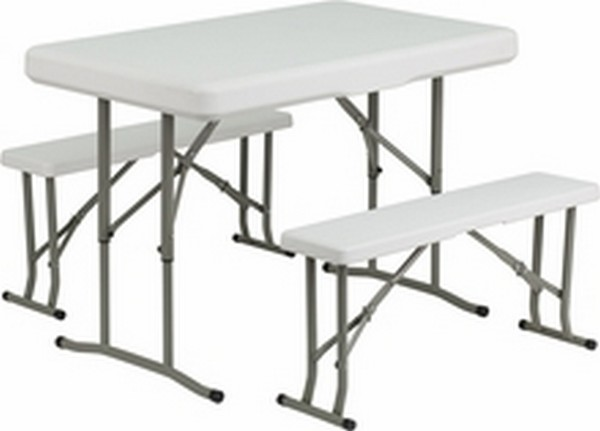 Plastic Fold Table And Benches